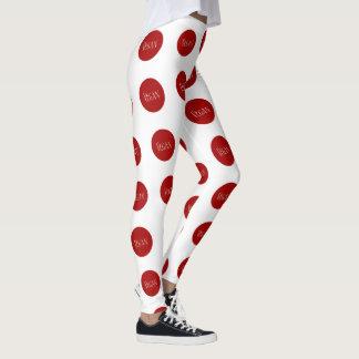 Vegan in a Red Polka Dot Leggings