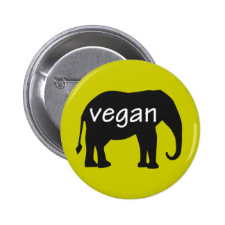 Vegan (in an elephant design) button