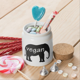 Vegan in an elephant design candy jars