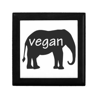 Vegan (in an elephant design) jewelry box