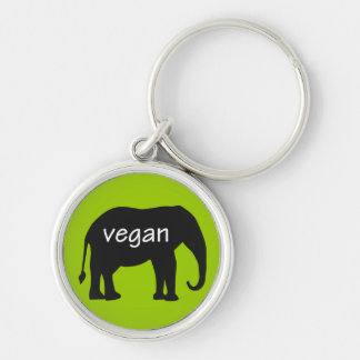 Vegan (in an elephant design) keychains