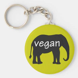 Vegan (in an elephant design) key chain