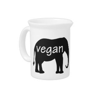 Vegan (in an elephant design) drink pitchers