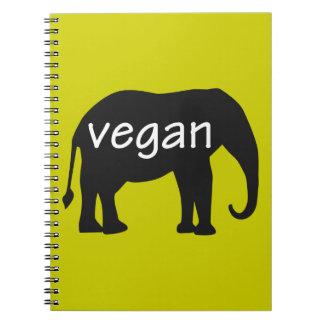 Vegan (in an elephant design) spiral notebook