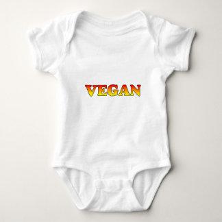 Vegan in Flames Baby Bodysuit