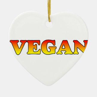 Vegan in Flames Ceramic Ornament