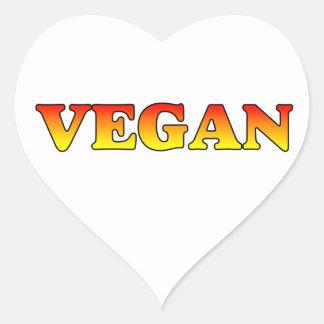 Vegan in Flames Heart Sticker