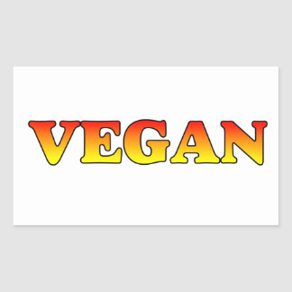 Vegan in Flames Rectangular Sticker