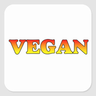 Vegan in Flames Square Sticker