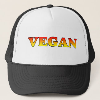 Vegan in Flames Trucker Hat