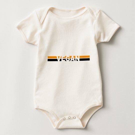 Vegan in Halloween Stripes Baby Bodysuit