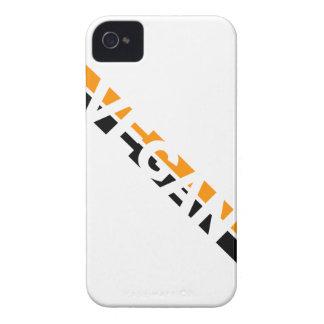 Vegan in Halloween Stripes iPhone 4 Case-Mate Case