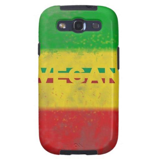 Vegan in Rasta Stripes Galaxy S3 Case