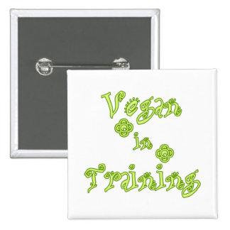 Vegan in Training Pinback Buttons