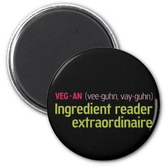 Vegan Ingredient Reader 2 Inch Round Magnet