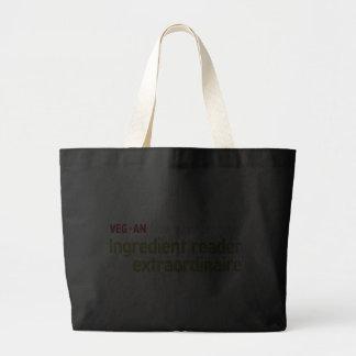 Vegan Ingredient Reader Tote Bags
