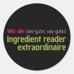 Vegan Ingredient Reader Sticker