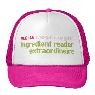 Vegan Ingredient Reader Trucker Hat