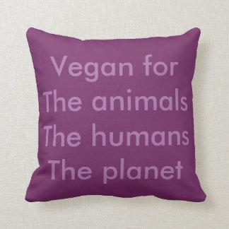 Vegan is freedom throw pillow