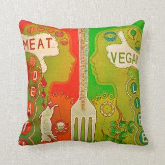 Vegan is life throw pillow