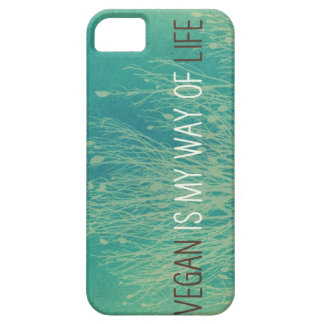 Vegan Is MY Way Of Life - green plant design iPhone SE/5/5s Case
