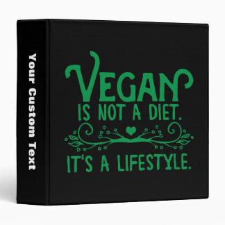 Vegan is not a Diet 3 Ring Binder