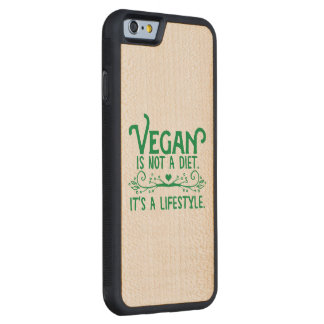 Vegan is not a Diet Carved Maple iPhone 6 Bumper Case