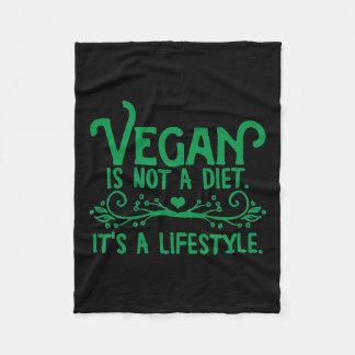 Vegan is not a Diet Fleece Blanket