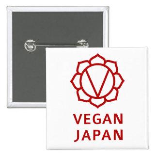 Vegan Japan Pinback Button