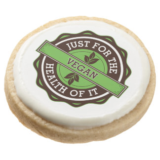 Vegan Just For the Health of It Round Premium Shortbread Cookie