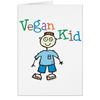 Vegan Kid Boy Card