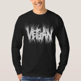 Vegan lettering crusty style white T-Shirt