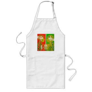Vegan life long apron