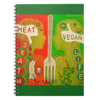 Vegan life spiral notebook