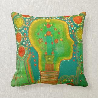 Vegan light connection throw pillow