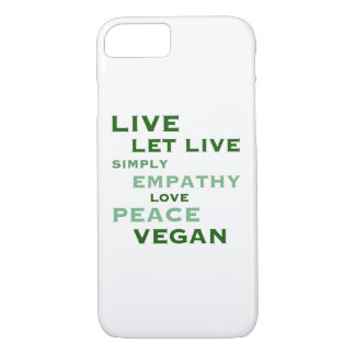 "Vegan ""Live Let Live"" Phone Case"