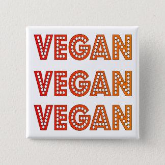 Vegan Logo Square Badge Pinback Button