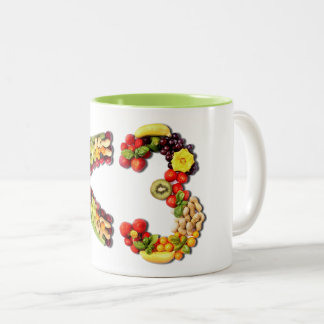 VEGAN LOVE -  <3 Smart Heart Two-Tone Coffee Mug