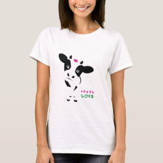 Vegan Love - Baby Cow - T-shirt - Womens