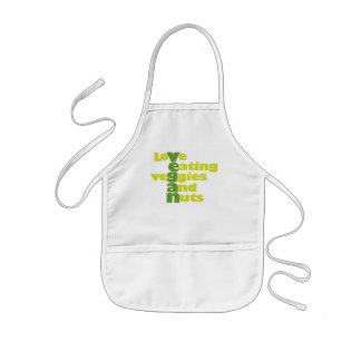 Vegan..loVe Eating veGgiies And Nuts Kids' Apron