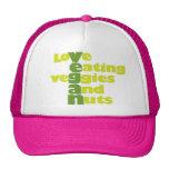 Vegan..loVe Eating veGgiies And Nuts Mesh Hats