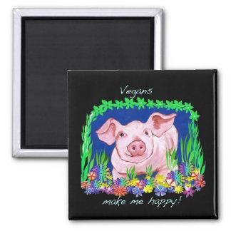 Vegan make me happy magnet