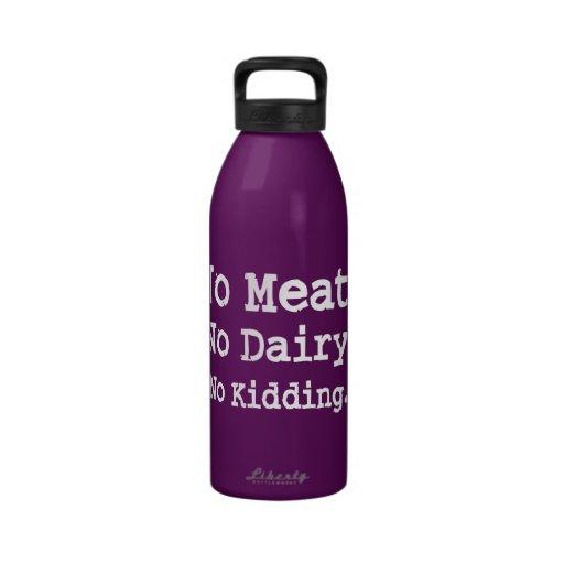Vegan Message with Attitude Drinking Bottles
