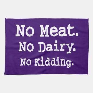 Vegan Message with Attitude Hand Towel