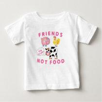 Vegan Messaged Shirt - Friends Not Food