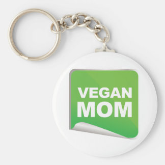 Vegan Mom Label Keychain