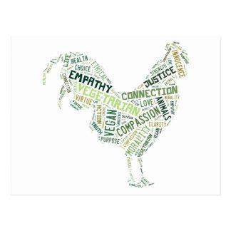 Vegan mosaic postcard