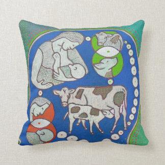 Vegan mother coils throw pillow