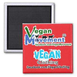 Vegan Movement / Vegan Clothing 2 Inch Square Magnet