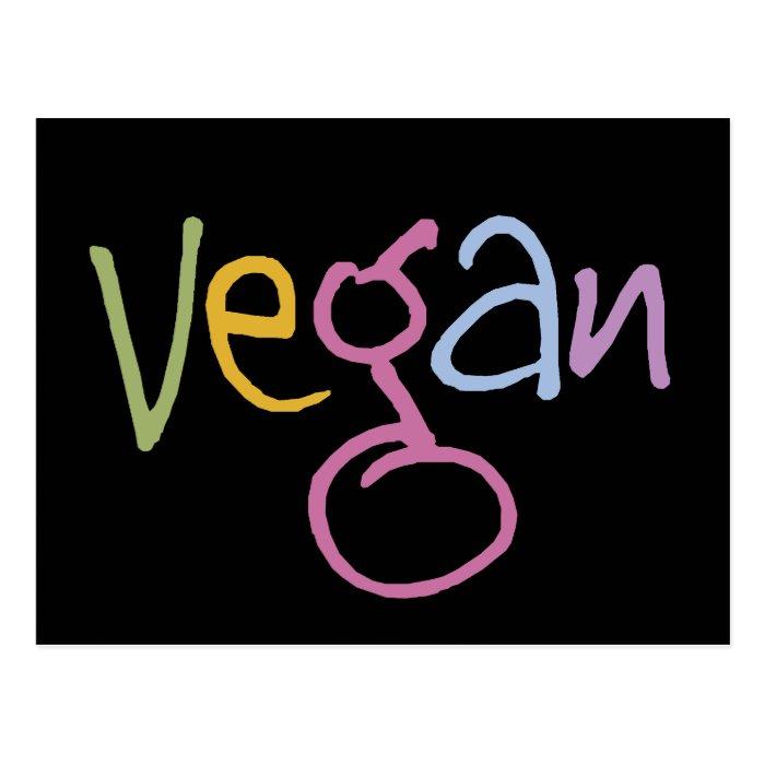 Vegan Multicolor Postcard
